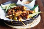 American Chicken Satay Skewers Recipe Appetizer