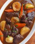 Canadian Beef Stew with Carrots and Potatoes Dinner