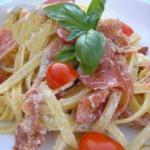 Italian Fettuccine with Goat Cheese Appetizer