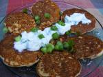 Russian Corn Blini With Smoked Salmon and Chive Cream Dinner