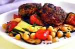 Australian Lamb And Spinach Patties With Chickpea Salad Recipe Appetizer