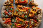 American Whole Wheat Focaccia with Peppers and Eggplant Recipe Appetizer