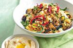 Canadian Chargrilled Vegetable Couscous With Hummus Recipe Appetizer