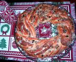 American Cranberryalmond Holiday Wreath Bread Appetizer