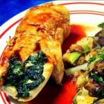 American Chicken-spinach Roulade with Blackberry-ancho Sauce Dessert