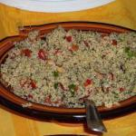Greek Tabouleh in Green Lemon and Marinated Red Bell Pepper Appetizer