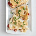 Canadian Smoked Salmon Quesadillas with Creamy Chipotle Sauce Appetizer