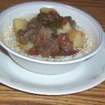 British Beef Green Chili Stew Soup