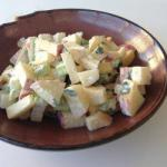 Chinese Apple Salad with Yogurt Dessert