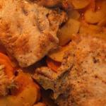 Canadian Pork Chops with Sweet Potatoes BBQ Grill