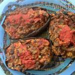 American Aubergines Stuffed with Capers and Olives Appetizer