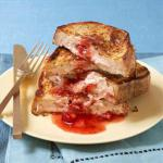 French Very Strawberry Stuffed French Toast Breakfast
