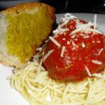 American Mia s Tasty Spaghetti and Turkey Meatballs Dinner