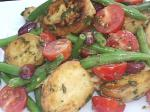 French Grilled Baby New Potato Salad With French Green Beans and Mint Appetizer