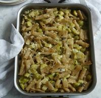 Italian Hearty Whole Wheat Pasta With Brussels Sprouts Cheese and Potato Dinner