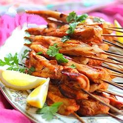 Indonesian Satay Chicken Skewers of Grilled Chicken Indonesians Dinner