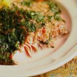 American Salmon with Herbs from the Oven Dessert