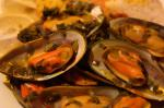 American Steamed Mussels in Saffron Wine Broth Dinner