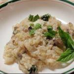 American Vegetarian Risotto with Mushrooms Dinner