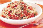 American Spaghetti With Capers And Olives Recipe Appetizer