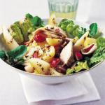 American Pigs Salad with Pear and Pecan Nuts Appetizer