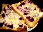 American White Toast With Cheddar and Beetroot Breakfast