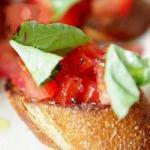 Italian Bruschetta Classic Appetizer