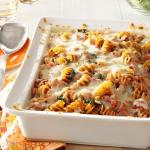 American Sausage Spinach Pasta Bake Appetizer