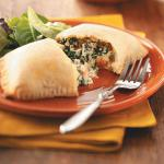 American Sausage and Spinach Calzones Appetizer