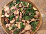 Turkish Spinach Salad With Smoked Chicken Apple Walnuts Bacon Appetizer