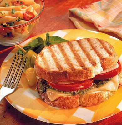 Italian Grilled Panini Sandwiches BBQ Grill