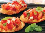 Canadian Summer Tomato Insalata with Grilled Bruschetta Appetizer