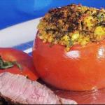 Canadian Stuffed Tomatoes with Parmesan Garlic and Basil Soup