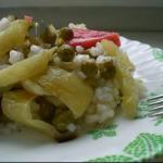 Lithuanian Salad with Rice and Sweet Pepper Appetizer