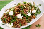 Australian Warm Lentil Pancetta And Feta Salad Recipe Appetizer