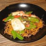 Chinese Chinese Noodle Pancakes with Asparagus Recipe Dinner