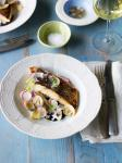 Australian Barramundi with Clams and Squid Ink Appetizer