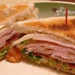 American Hot Sandwich of Ham and Bacon Appetizer