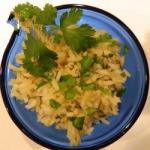American Integral Rice to Cilantro Appetizer
