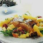 Colorful Salad with Grilled Salmon recipe