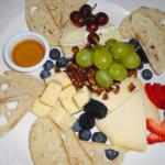 Canadian Fruit Cheese and Bread Plate Dessert