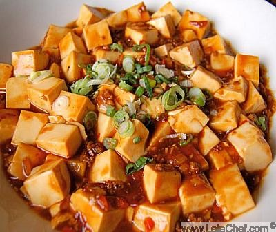 Chinese Ma Po Spicy Tofu Dinner