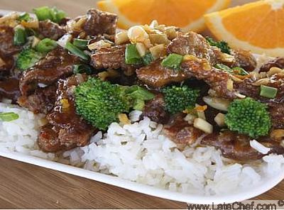 Chinese Orange Beef Appetizer