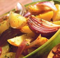 American Saffron-flavored Potatoes with Mustard Dinner