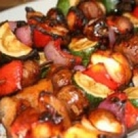 Canadian Veggie Kebabs BBQ Grill