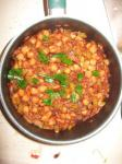 Canadian Gingery Chickpeas in Spicy Tomato Sauce Appetizer