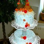 Canadian Wedding Cake Decorations with Cock and Hen Dessert