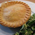 Canadian Salted Pie with Mushrooms and Cooked Appetizer
