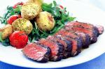 American Balsamic Lamb With Roasted Herb Potatoes Recipe Dinner