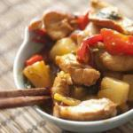 American Chicken Stirfry with Pineapple Appetizer